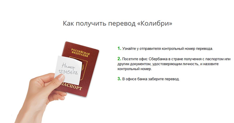 Сбербанк колибри перевод по России 3