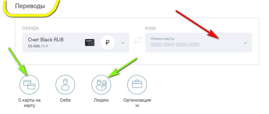 Переводы с «Тинькофф» в «Альфа-банк»